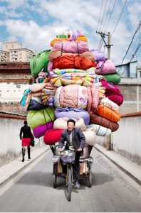 overloaded-tricycle-and-sexy-chinese-lady